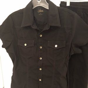 JAANUU black scrub top